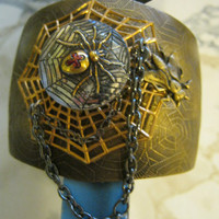 Spider and Fly Cuff Bracelet