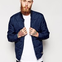 ASOS Quilted Bomber Jacket at asos.com