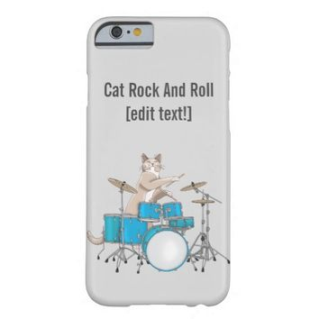 Cat Playing Drums - iPhone 6 Case