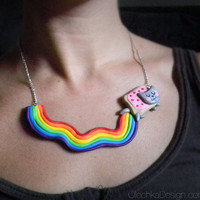Nyan Cat Internet Meme Necklace