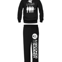 5 SECONDS OF SUMMER HOODIE AND SWEATPANTS FIVE SECOND OF SUMMER - black / 3XL / XL