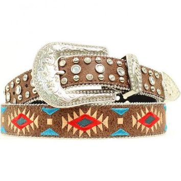 Blazin Roxx Southwest Stitch Diamond Belt - Sheplers