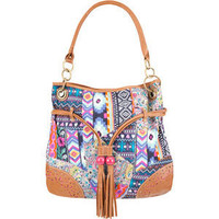 Mixed Print Bucket Bag 194289957 | Handbags | Tillys.com