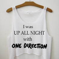UP ALL NIGHT One Direction Cropped Tank Top