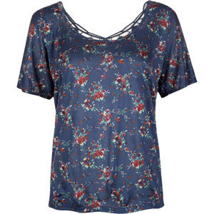 FULL TILT Floral Crochet Back Womens Top 203921200 | Tops | Tillys.com