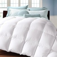 White Goose Down Alternative Comforter Ultra Plush, Box Stitched