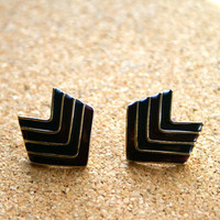 Vintage Chevron Earrings