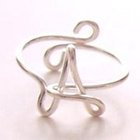 Initial Ring . Wire Name Ring . Wire Word Ring . Personalized Ring . Wire Name Jewelry . Adjustable