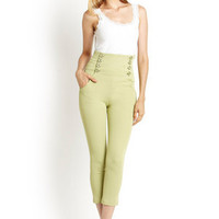 ideeli | GRACIA High-Waisted Button Front Pant