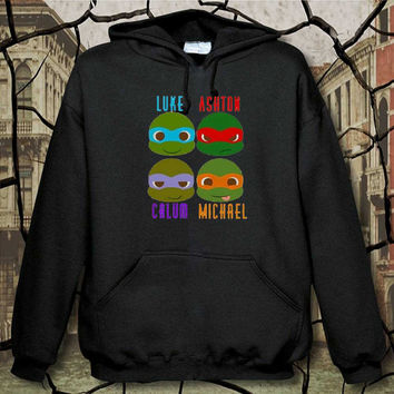 5sos ninja turtles hoodie, hoodie unisex adult, available size S,M,L,XL,XXL