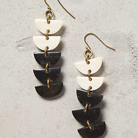 Semitone Ladder Drops by Anthropologie Black & White One Size Earrings