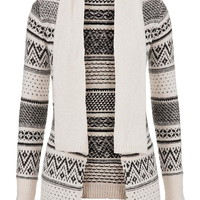 patterned sweater with collar