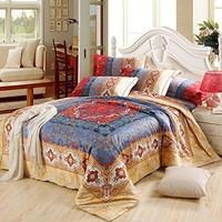 Cliab Moroccan Bedding Bohemian Bedding Sets Queen Egyptian Cotton Duvet Cover Set
