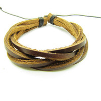 fashion Adjustable leather Cotton Rope Woven Bracelets mens bracelet cool bracelet jewelry bracelet bangle bracelet  cuff bracelet 888S