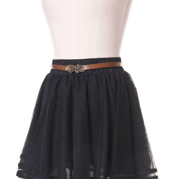 Delicacy Triple Layers Tutu in Black - Retro, Indie and Unique Fashion