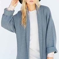 Silence + Noise Wide-Ribbed Open Cardigan