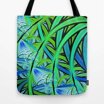 Jungle Waterfall Tote Bag by Lyle Hatch