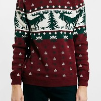 Men's Topman Christmas Moose Crewneck Sweater