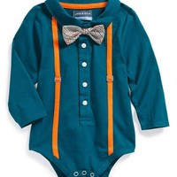 Andy & Evan for little gentlemen Polo with Bow Tie Bodysuit