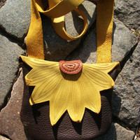 NEW Yellow Flower Purse