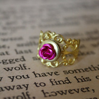 Fairy Tale Rose Locket Ring