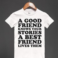 A Best Friend Lives Them-Unisex Athletic Blue T-Shirt