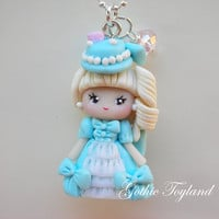 Kawaii Cuties Sweet  Polymer Clay Pendant Necklace Blythe Marie Antoniette