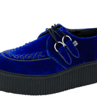 Blue Velvet Creepers by T.U.K. - Women's 6/Men's 4