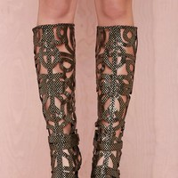 Jeffrey Campbell Scribble Leather Boot