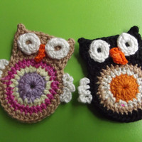 COTTON CROCHET APPLIQUE owl...