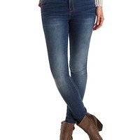 "Refuge ""Hi-Rise Skinny"" Dark High-Waisted Jeans - Dark Wash Denim"