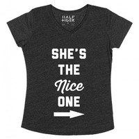 The Bad One-Unisex Heather Onyx T-Shirt