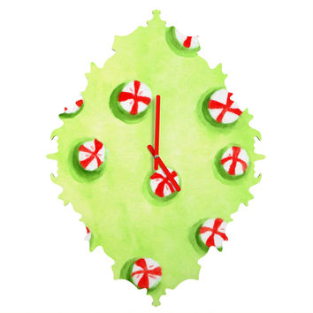 Rosie Brown Christmas Candy Baroque Clock