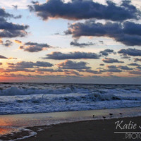 Beach Photo of Nags Head North Carolina at Sunrise, Summer Landscape Nature Art, 8x10, Frame Option