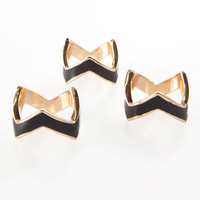 Chevron Ring Set | Flirt Catalog Official Store