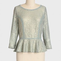 ice folly shimmer lace top at ShopRuche.com