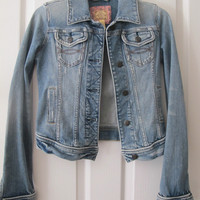 Abercrombie and Fitch Distressed Jean Jacket Sz S