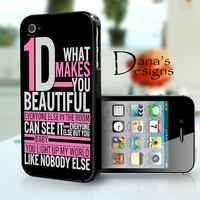 One direction Lyrics - iPhone 4S and iPhone 4 Case Cover