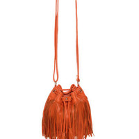 Cute Fringe Purse - Orange Purse - Leather Purse - $46.00