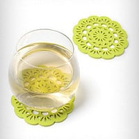 Felt Florette Coasters Set of 4 | PLASTICLAND