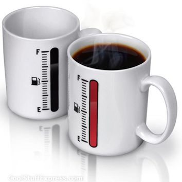 Tank Up - Heat Sensitive Coffee Mug