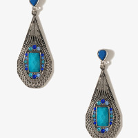Long Beaded Teardrop Earrings