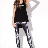 Leg Bones Leggings | Black Milk Clothing