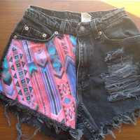 SALE High Waisted Jean Shorts