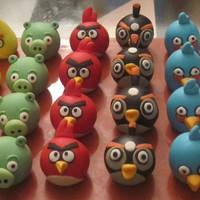 Angry Birds cupcake toppers by sweets4you on Cake Central