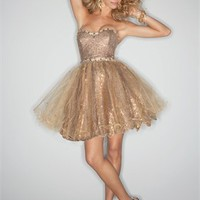 Strapless sweetheart beading gold purple short Prom party cocktail Dresses 2012 PSDM0019
