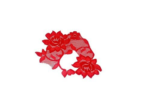 Red Lace Masquerade Mask ADHERES TO SKIN (&amp; reusable) by LacedAndWaisted