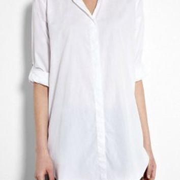 White Classic Oversized Shirt by MIH Jeans