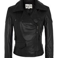 Becky Black Multi-zip Leather Biker Jacket - Reiss