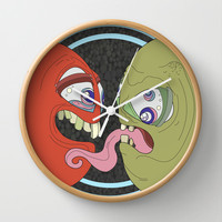 Barthalamou and Trina in Love Wall Clock by GROUPIES
